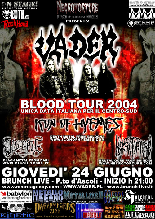 Blood Tour 2004 | MetalWave.it Live Reports