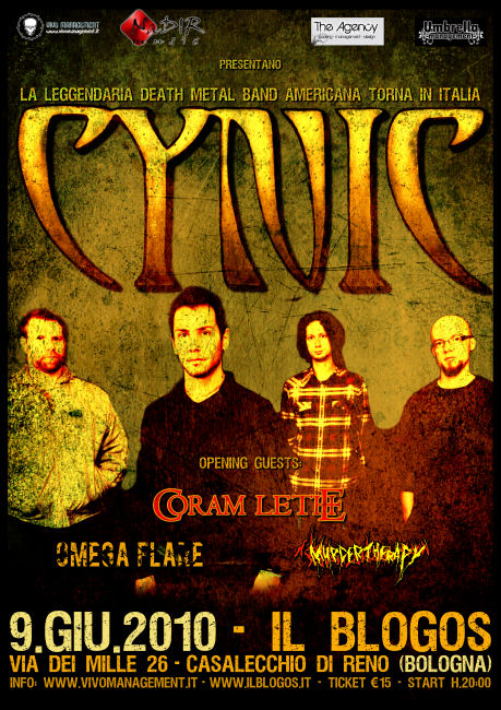 MetalWave Live-Report ::: Cynic + Coram Lethe + Omega Flare + Murder Therapy