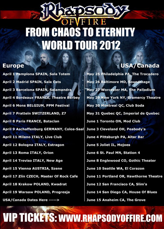 From Chaos To Eternity Tour 2012 | MetalWave.it Live Reports