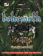 MetalWave Live-Report ::: Behemoth + Krisiun + Incantation + Ragnarok