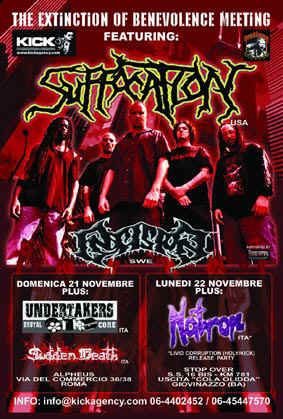 MetalWave Live-Report ::: Suffocation + Undertakers + Sudden Death