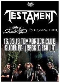 MetalWave Live-Report ::: Testament + Dew-Scented + Bleed From Within