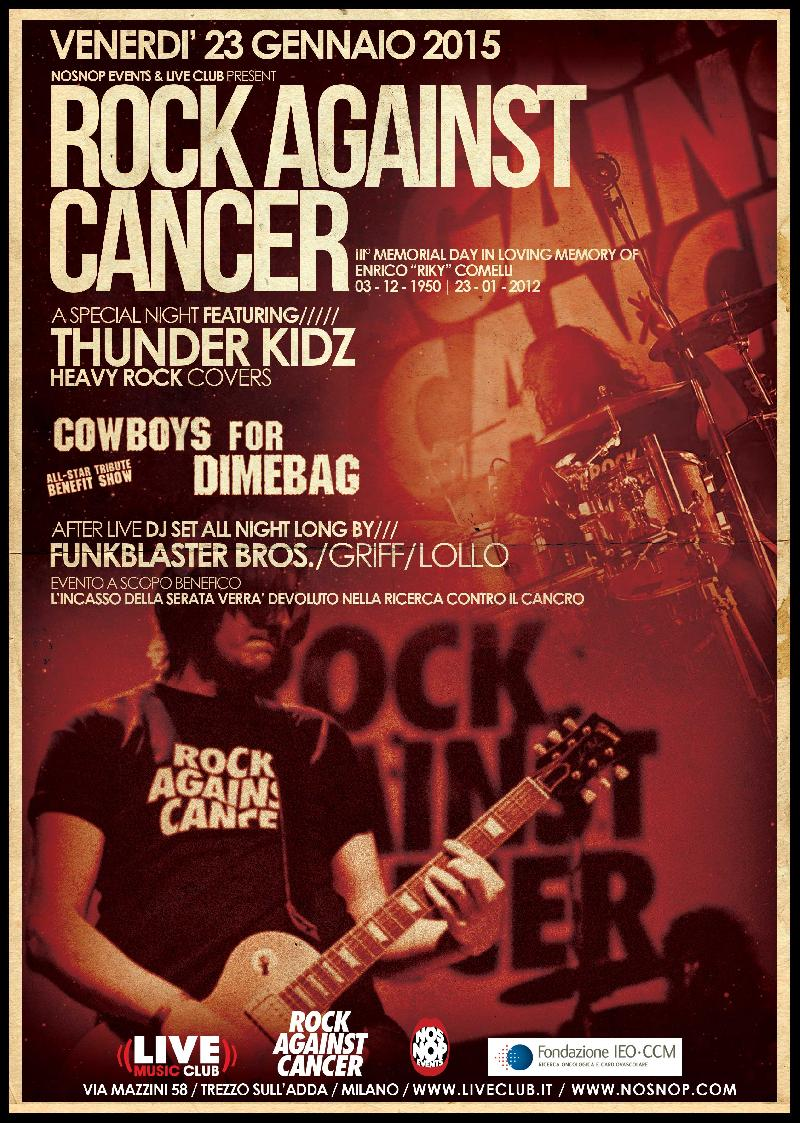 ROCK AGAINST CANCER: terza edizione al Live Club