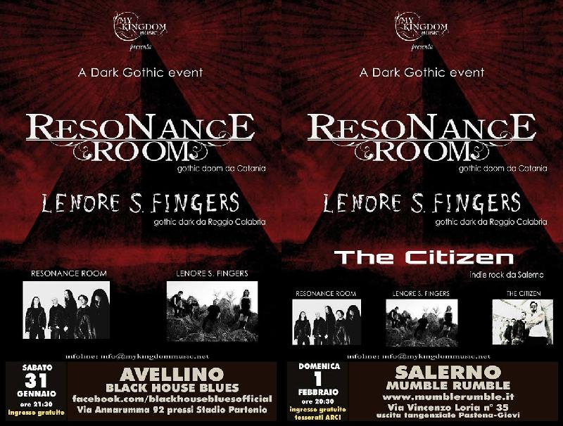 RESONANCE ROOM: i prossimi show confermati