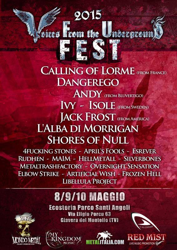 VOICES FROM THE UNDERGROUND FEST: il bill dell'evento