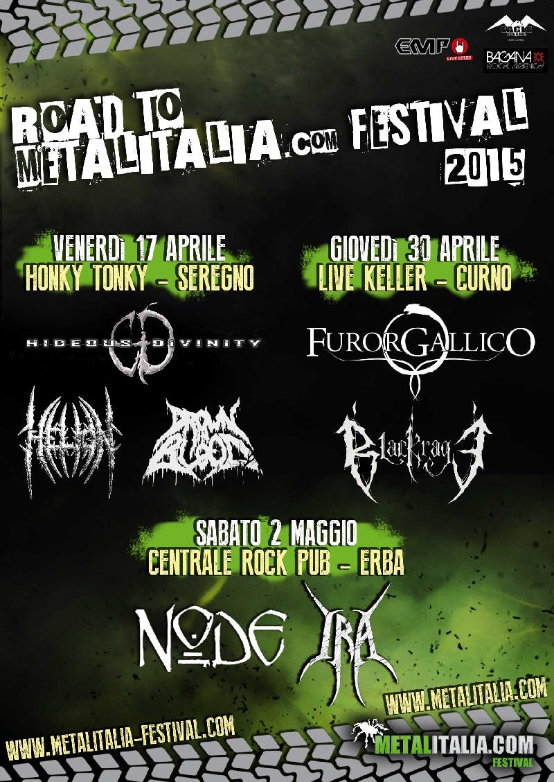ROAD TO METALITALIA.COM FESTIVAL 2015: tre warm-up party per il festival