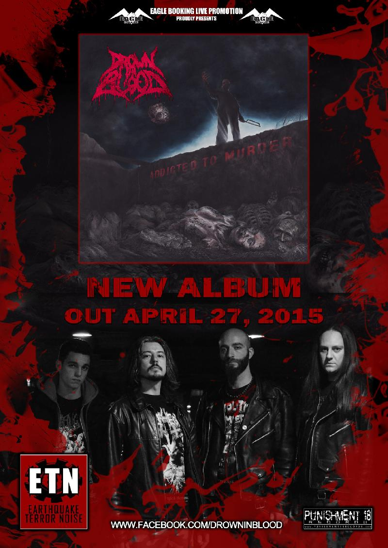 "DROWN IN BLOOD: esce oggi ""Addicted To Murder"""