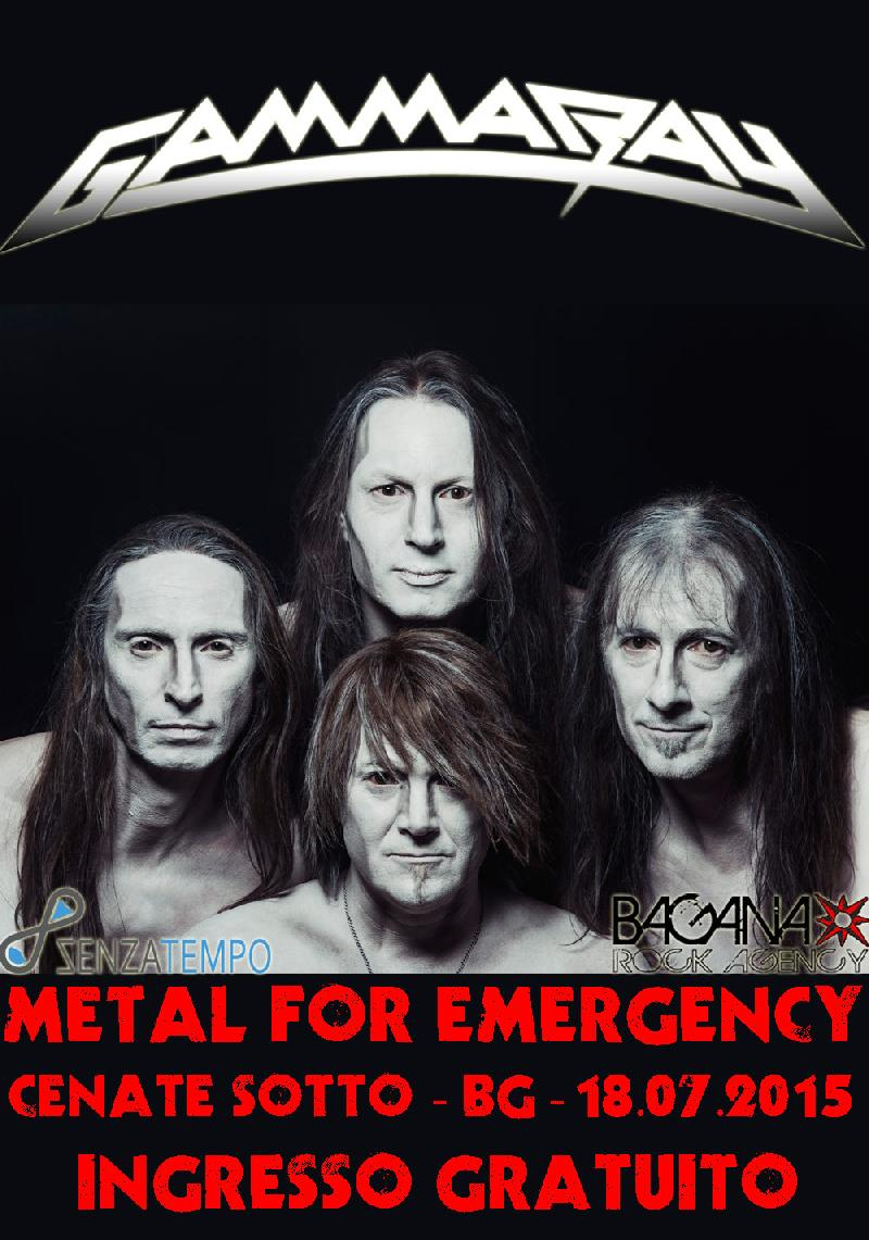 METAL FOR EMERGENCY FESTIVAL 2015: confermati anche i GAMMA RAY