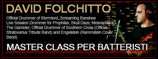 DAVID FOLCHITTO: drum-clinic a Roma