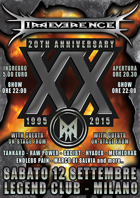 "IRREVERENCE: annuciati i guests del ""XXth Anniversary Show"""