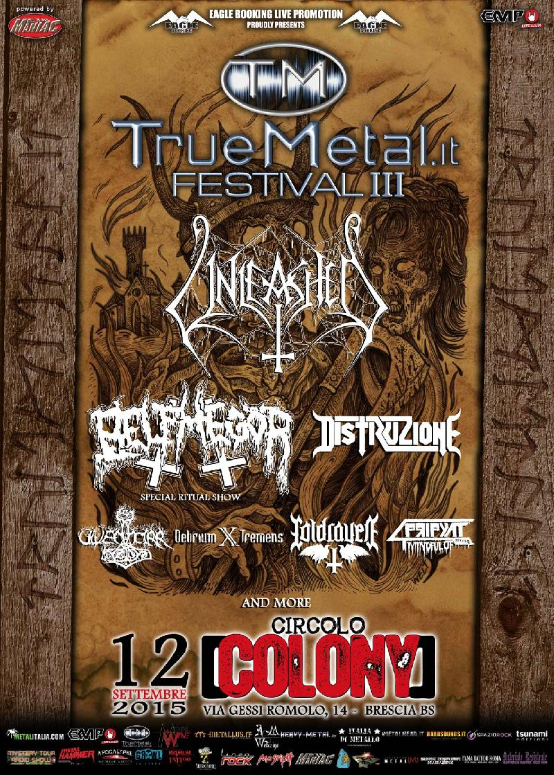 TRUEMETAL.it FESTIVAL 2015: il bill definitivo