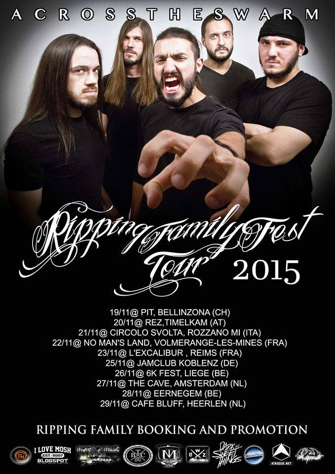 ACROSS THE SWARM: annunciato tour europeo a Novembre