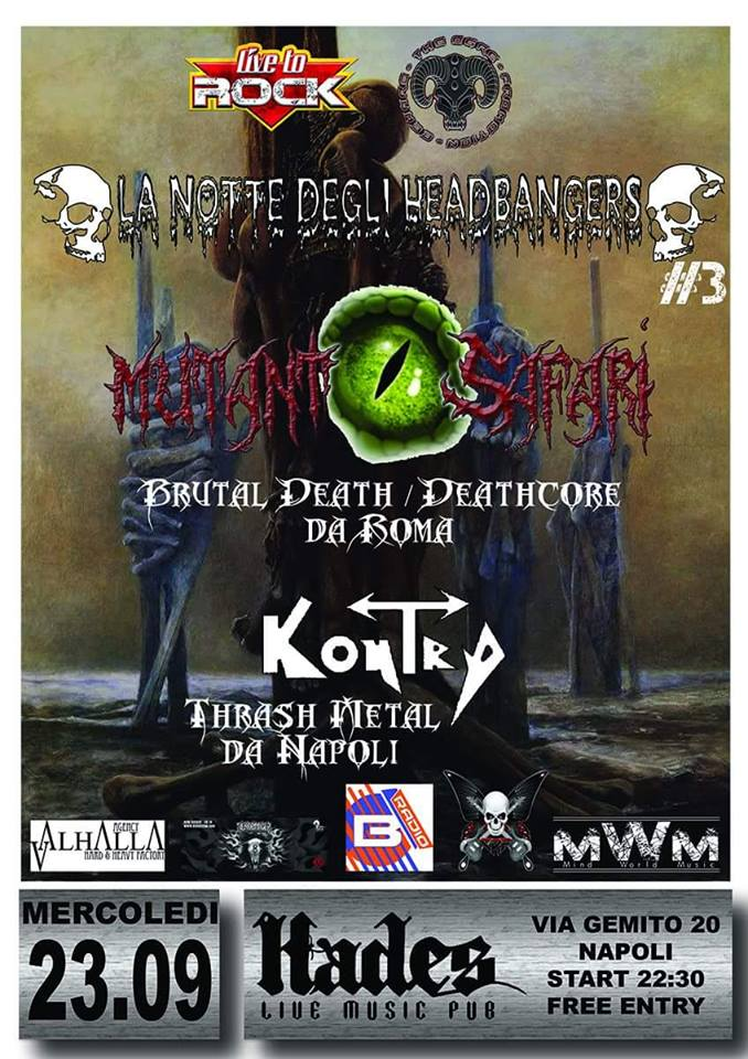 MUTANT SAFARI e KONTRA: in concerto a Napoli