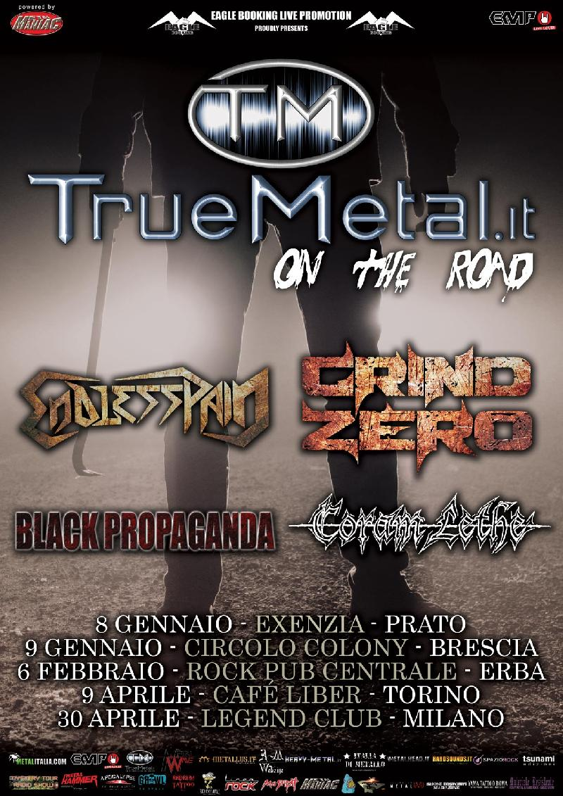 TRUEMETAL.it on the road: tour Italiano con ENDLESS PAIN, CORAM LETHE, BLACK PROPAGANDA, GRIND ZERO