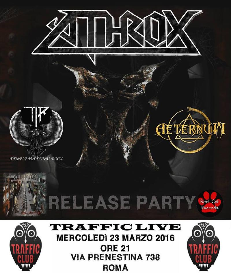 "ATHROX: release party dell'album ""Are you alive?"""