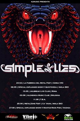 SIMPLE LIES: le nuove date del tour