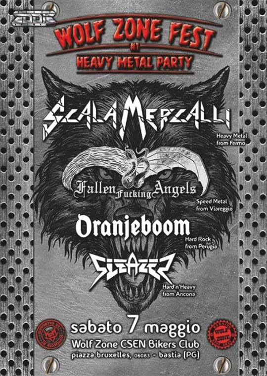 WOLF ZONE FEST - 1° Heavy Metal Party: prima edizione con SCALA MERCALLI