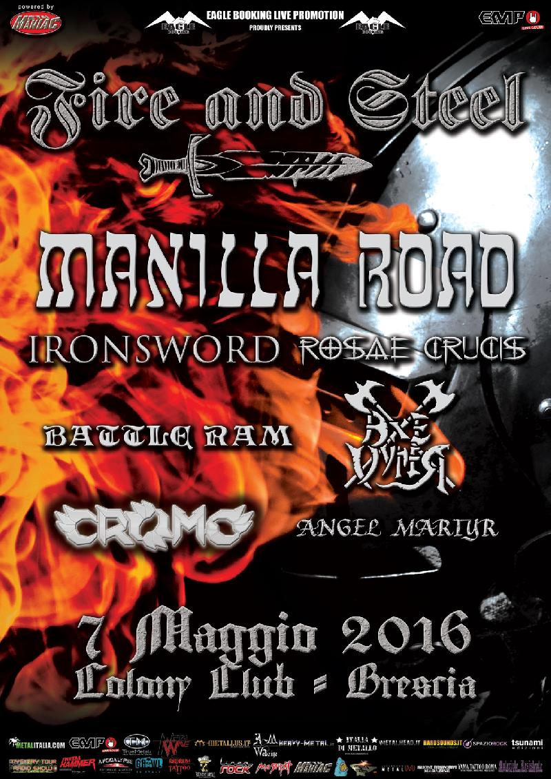 FIRE AND STEEL: i dettagli del festival con MANILLA ROAD, IRONSWORD e altri a Brescia