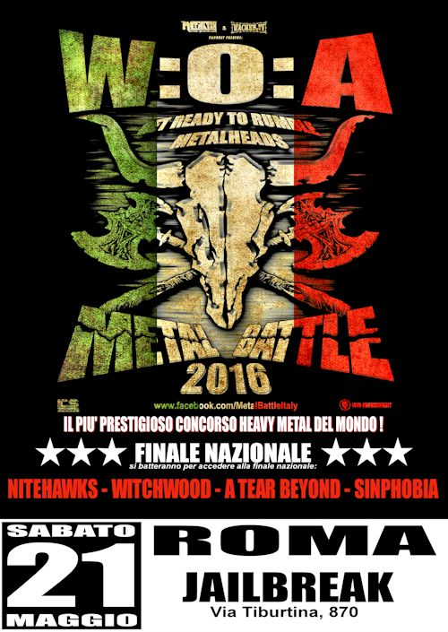 W:O:A METAL BATTLE ITALY 2015: le band finaliste