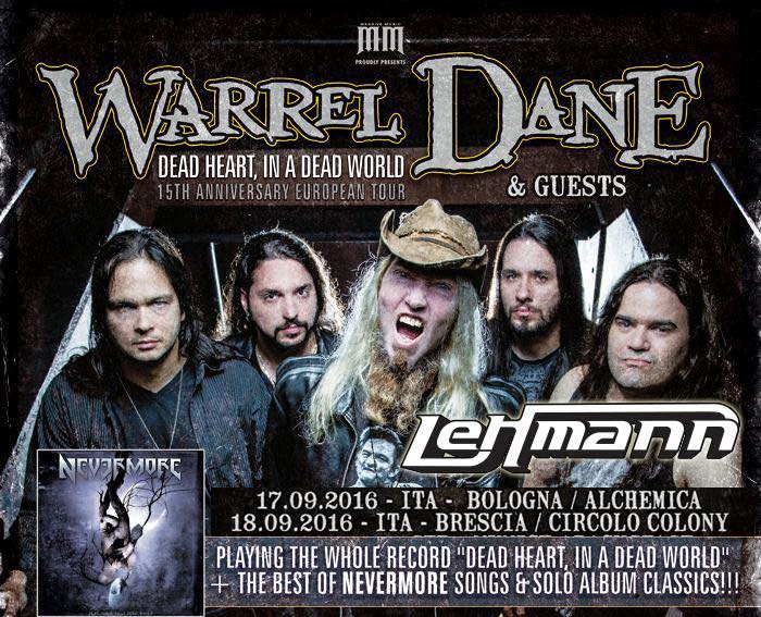 LEHMANN: di spalla a WARREL DANE
