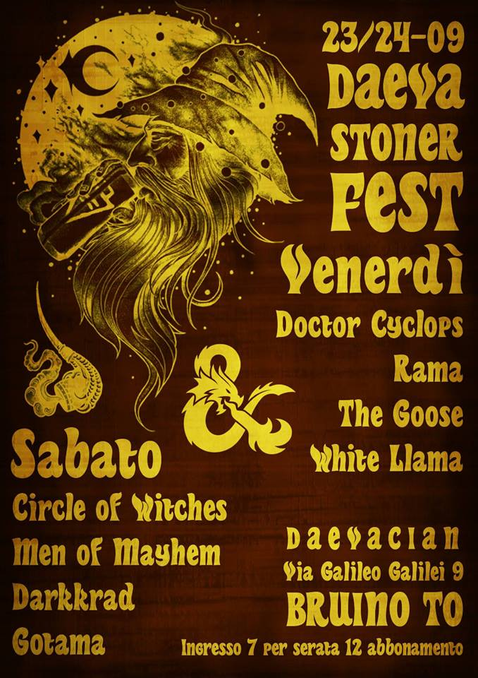 "CIRCLE OF WITCHES: ospiti del ""Daeva Stoner Festival"""