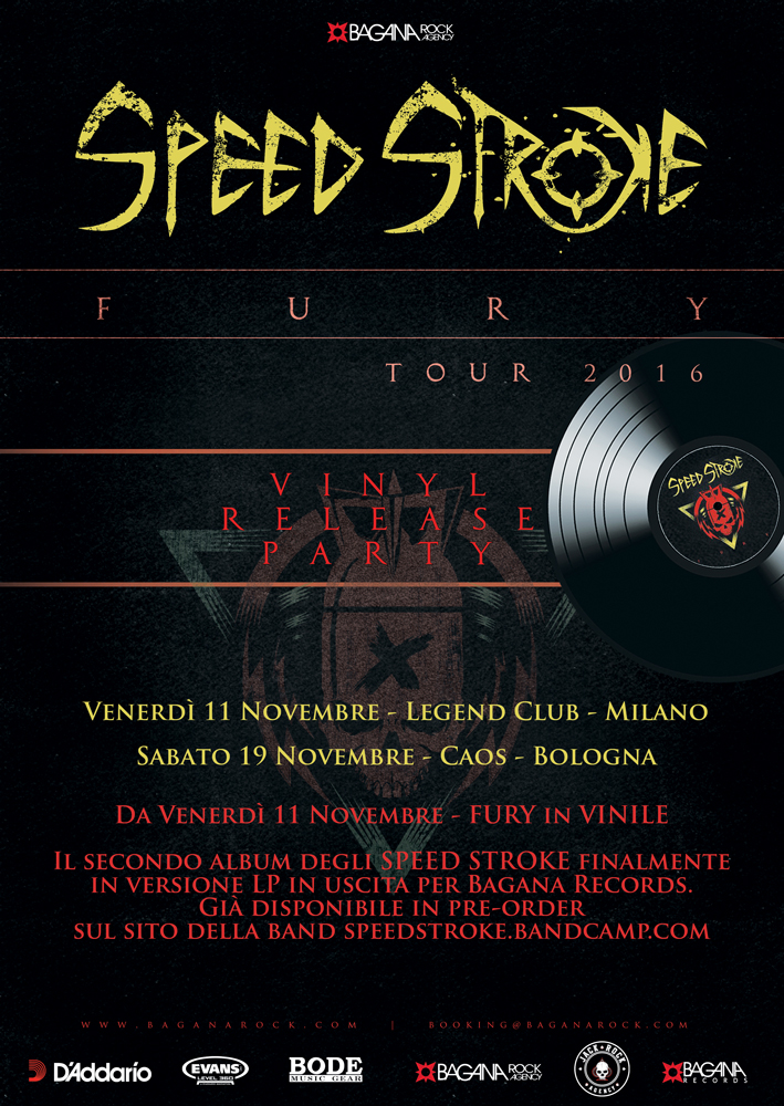 "SPEED STROKE: ""Fury"" in vinile dall'11 Novembre"