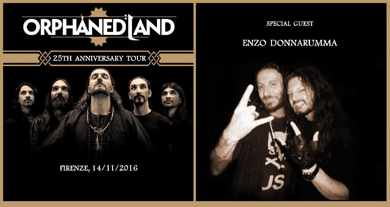 ENZO AND THE GLORY ENSEMBLE: special guest nel tour degli Orphaned Land