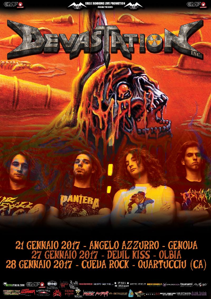 DEVASTATION INC: due date in Sardegna e release party a Genova