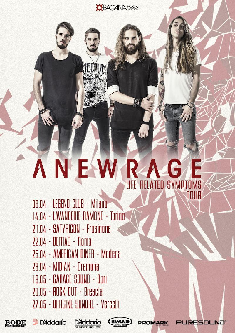 "ANEWRAGE: annunciato il ""Life-Related Symptoms"" Tour"