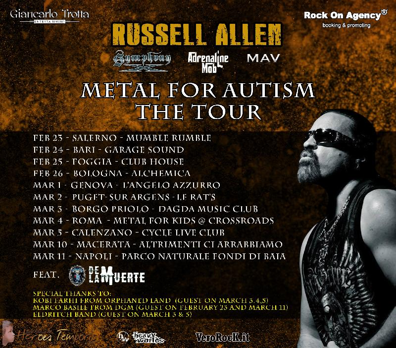 METAL FOR AUTISM: il tour con RUSSELL ALLEN
