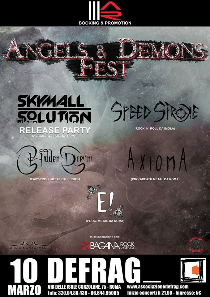 ANGELS & DEMONS FEST: nuovo festival al Defrag di Roma