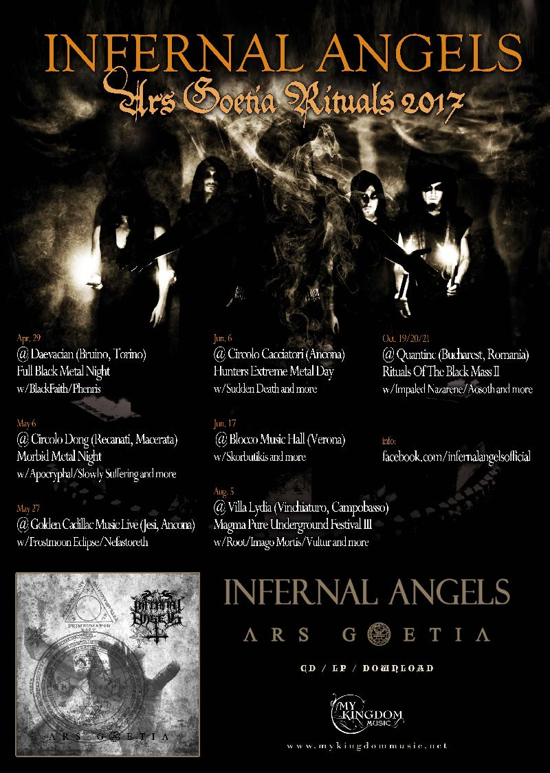 INFERNAL ANGELS: pronti per il loro Ars Goetia Rituals 2017