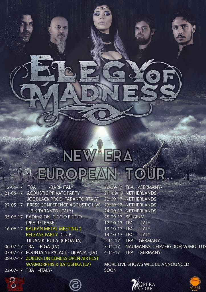 ELEGY OF MADNESS: annunciano il tour europeo