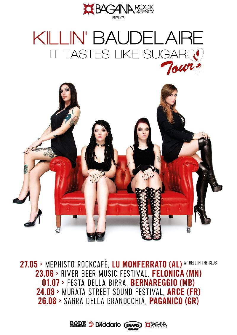 "KILLIN' BAUDELAIRE: ""It Tastes Like Sugar"" Tour si arricchisce di nuove date estive"