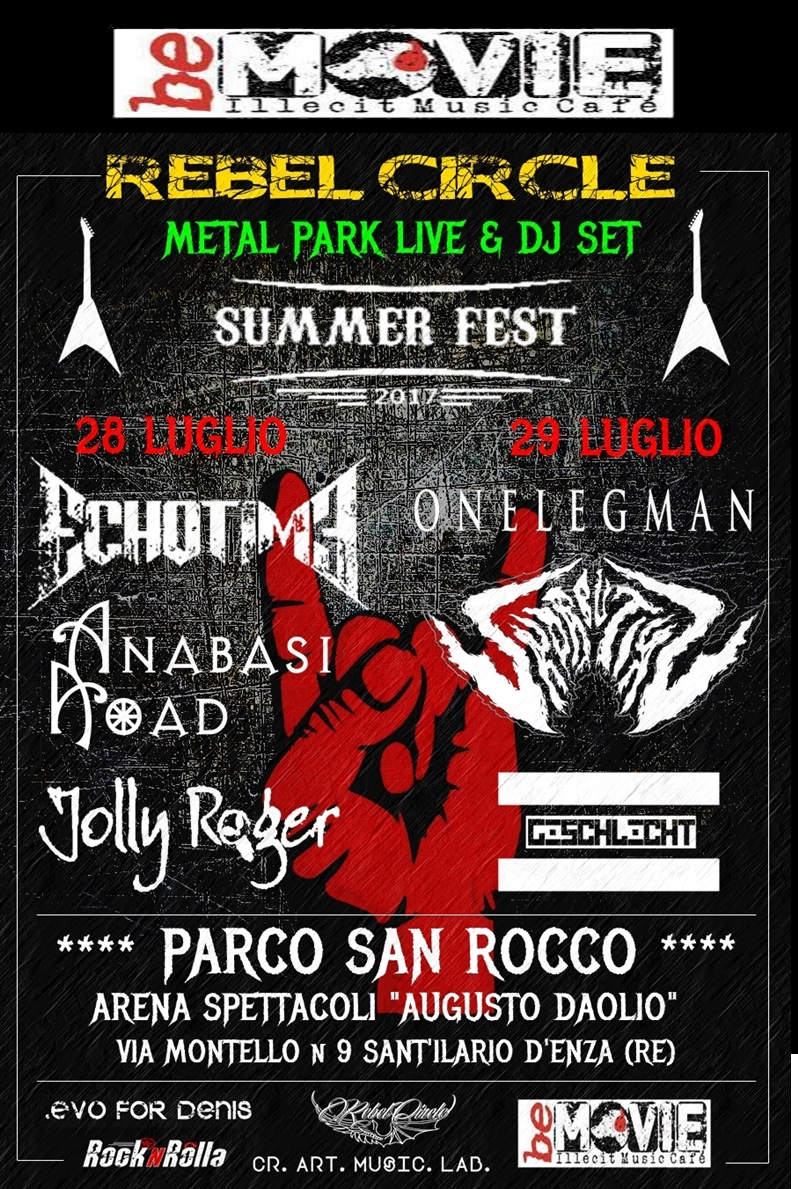METAL PARK LIVE: il primo festival targato Be-Movie & Rebel Circle