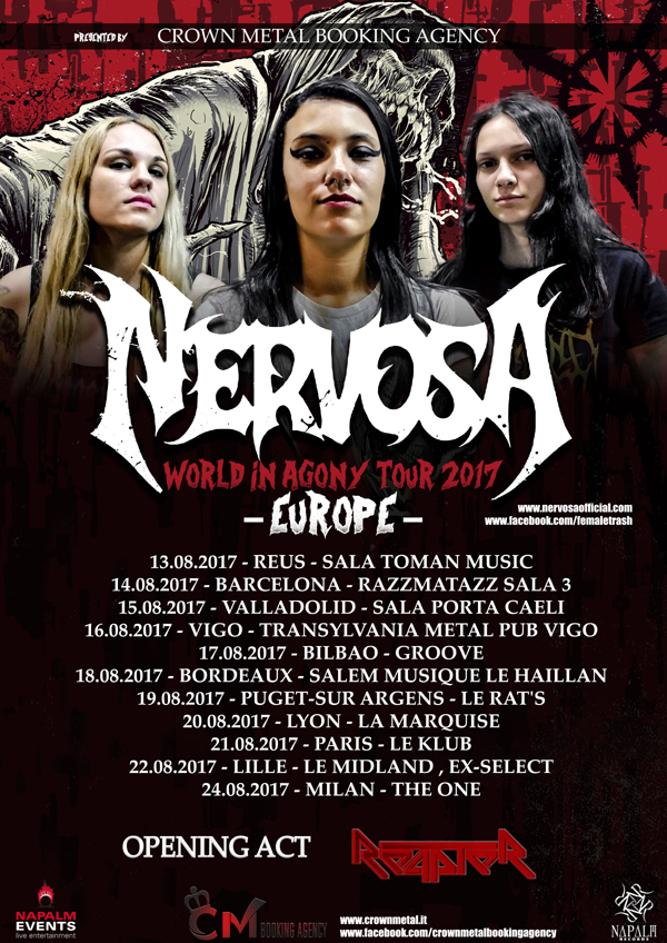 REAPTER: in tour con le NERVOSA