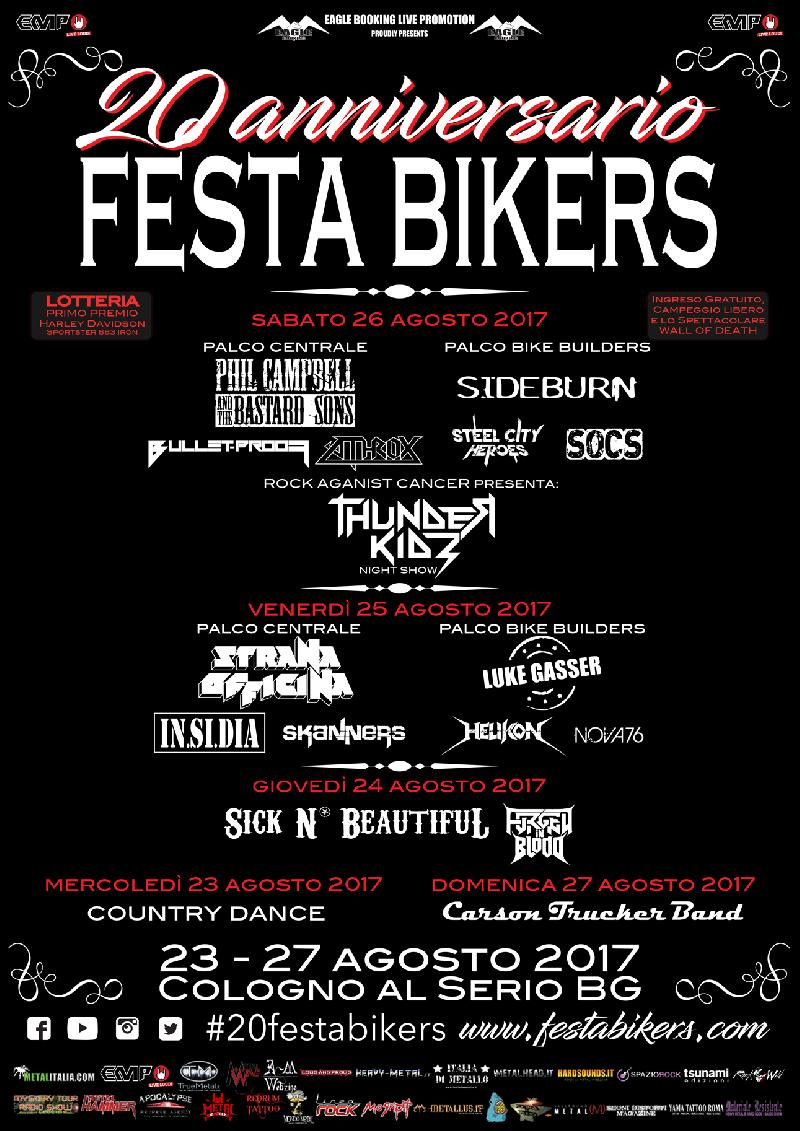 FESTA BIKERS: ROCK AGAINST CANCER presenta i THUNDER KIDS e nuove conferme
