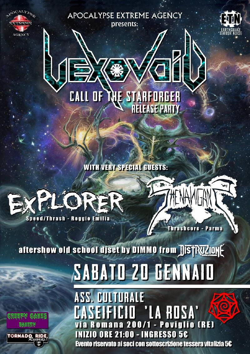 "VEXOVOID: il release party del nuovo album ""Call of the Starforger"""