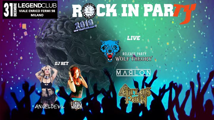 ROCK IN PARTY: primo Capodanno al LEGEND CLUB MILANO