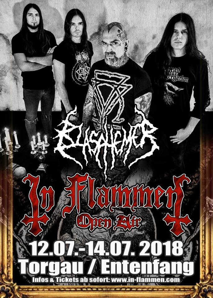 BLASPHEMER: annunciati all'IN FLAMMEN Open Air 2018 in Germania