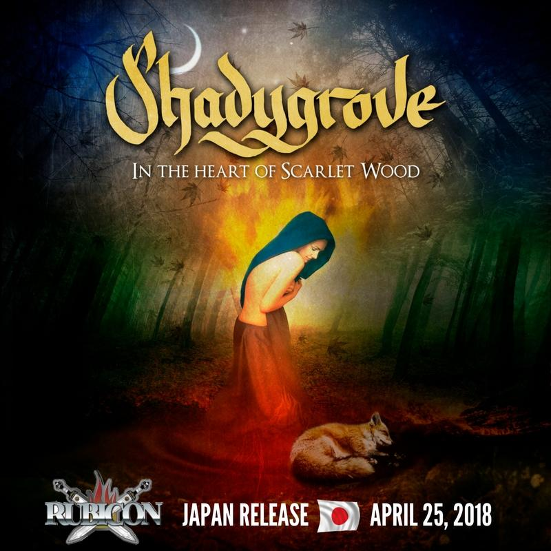 "SHADYGROVE: pubblicano ""In the heart of Scarlet Wood"" in Giappone"