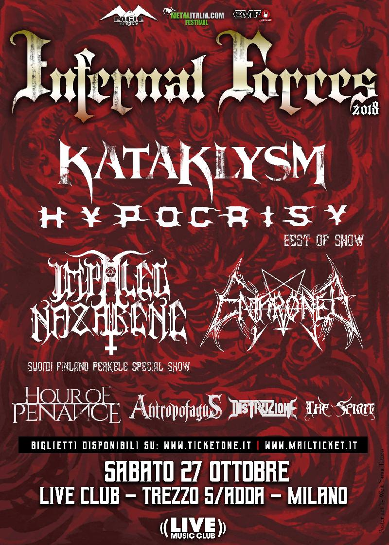 INFERNAL FORCES 2018: HYPOCRISY, KATAKLYSM, IMPALED NAZARENE, ENTHRONED e altri