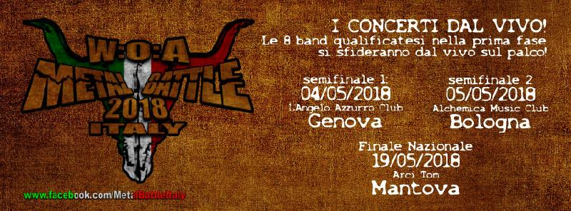 W:O:A METAL BATTLE ITALY 2018: ecco le band qualificate