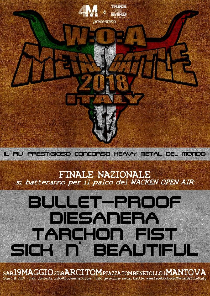 W:O:A METAL BATTLE ITALY 2018: rettifica sulle band qualificate