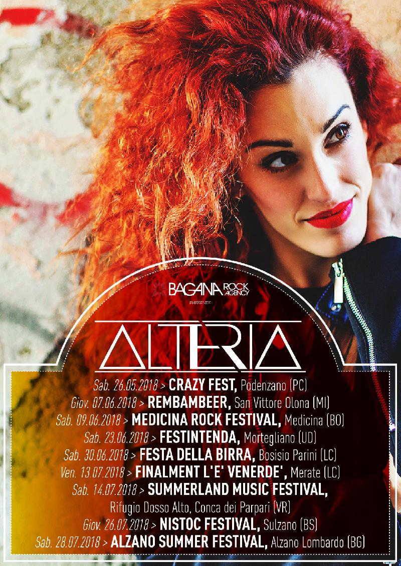 ALTERIA: le date del Summer Tour 2018