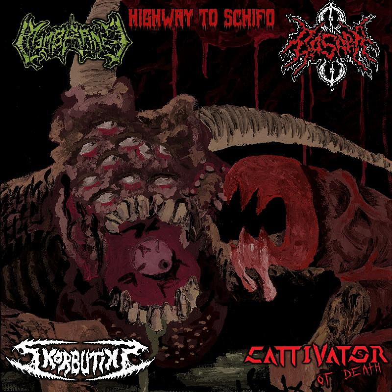 SKORBUTIKS, MEMBRANCE, CATTIVATOR OF DEATH, BASARA: presto disponibile lo split-CD ''Highway to Schifo''