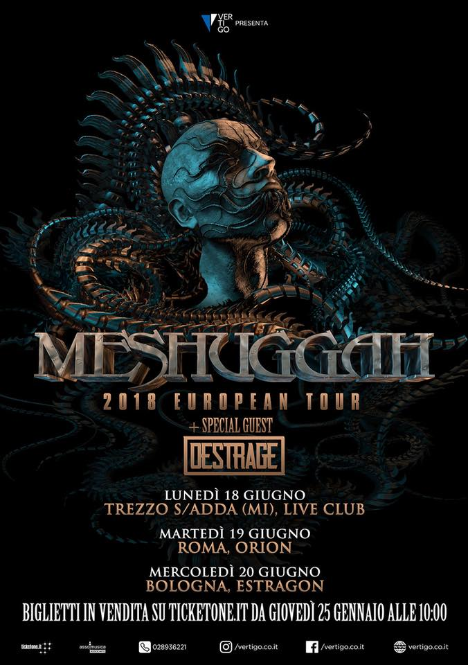 DESTRAGE: nuove date con i Meshuggah e At The Gates