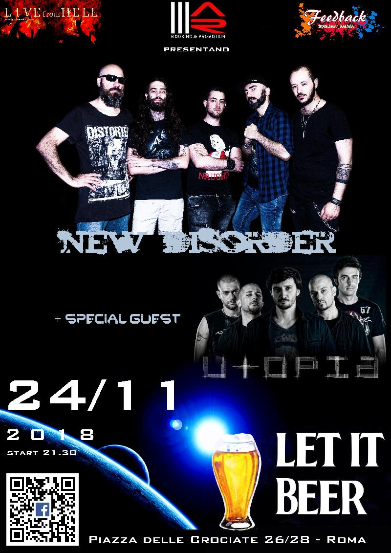 NEW DISORDER: live a Roma con UTOPIA special guests