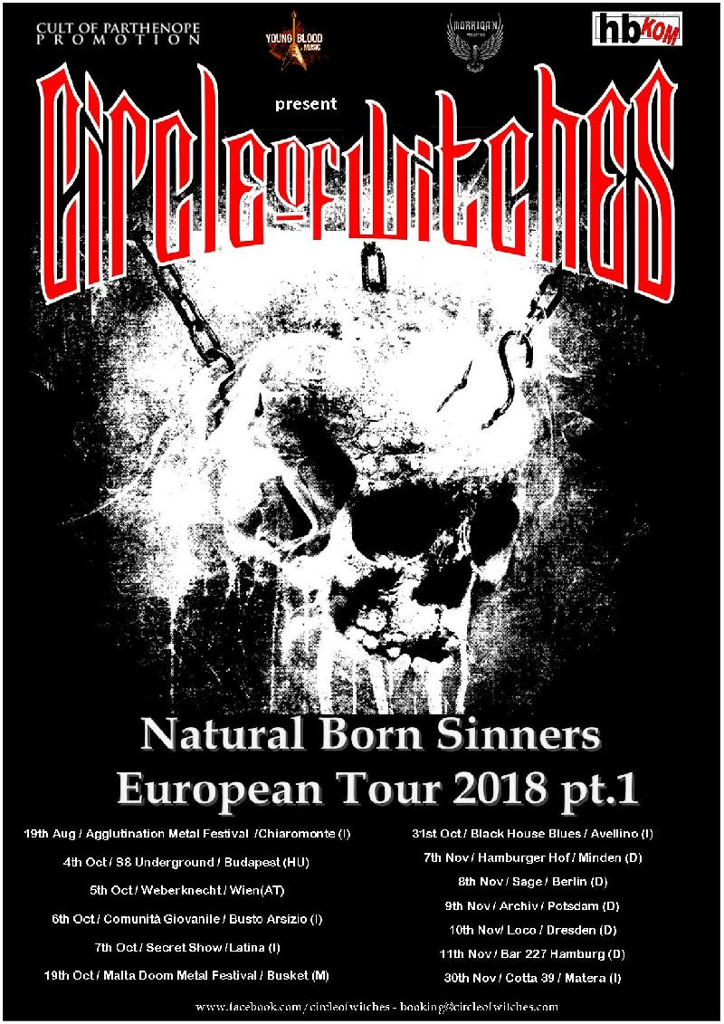 CIRCLE OF WITCHES: i dettagli del Tour Europeo 2018