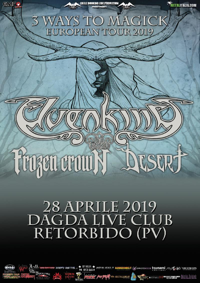 ELVENKING, FROZEN CROWN: una data al Dagda Live Club ad aprile